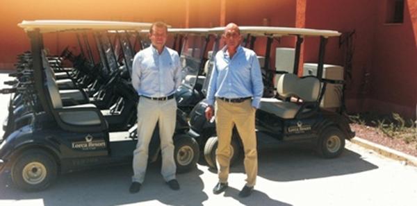 Entrega en Lorca Golf Resort de una flota RENT de 30 Coches de Golf Yamaha G29E negros