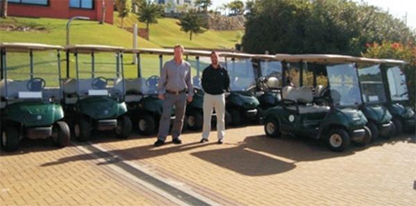 Entrega de flota de renovación en Los Arqueros Golf de 60 Coches de Golf Yamaha G29E verdes