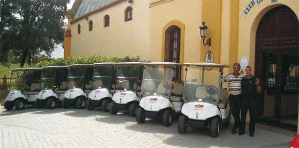Ampliación de flota RENT en Guadalhorce Club de Golf con nuevas unidades del Yamaha G29E blancos.